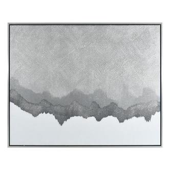 Silver Rock Canvas Wall Art