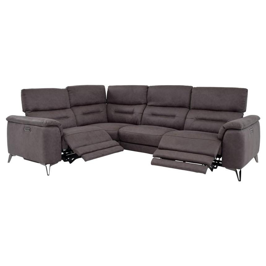 Claribel II Gray Power Reclining Sectional  alternate image, 2 of 9 images.