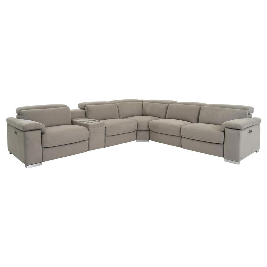 Phenomenal Karly Light Gray Power Reclining Sectional Machost Co Dining Chair Design Ideas Machostcouk