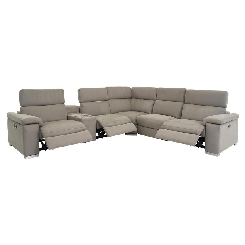 Karly Light Gray Power Motion Sofa w/Right & Left Recliners  alternate image, 2 of 8 images.