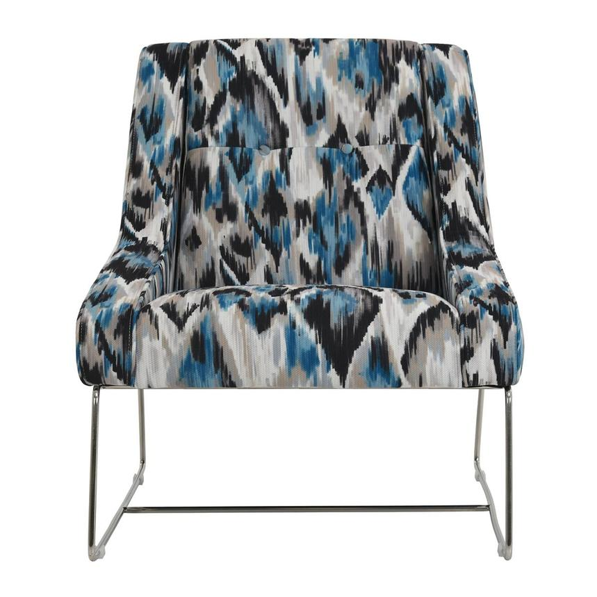 Tutti Frutti Blue Accent Chair w/2 Pillows  alternate image, 2 of 10 images.