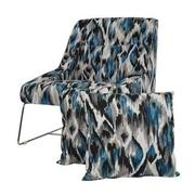 Tutti Frutti Blue Accent Chair w/2 Pillows  main image, 1 of 10 images.
