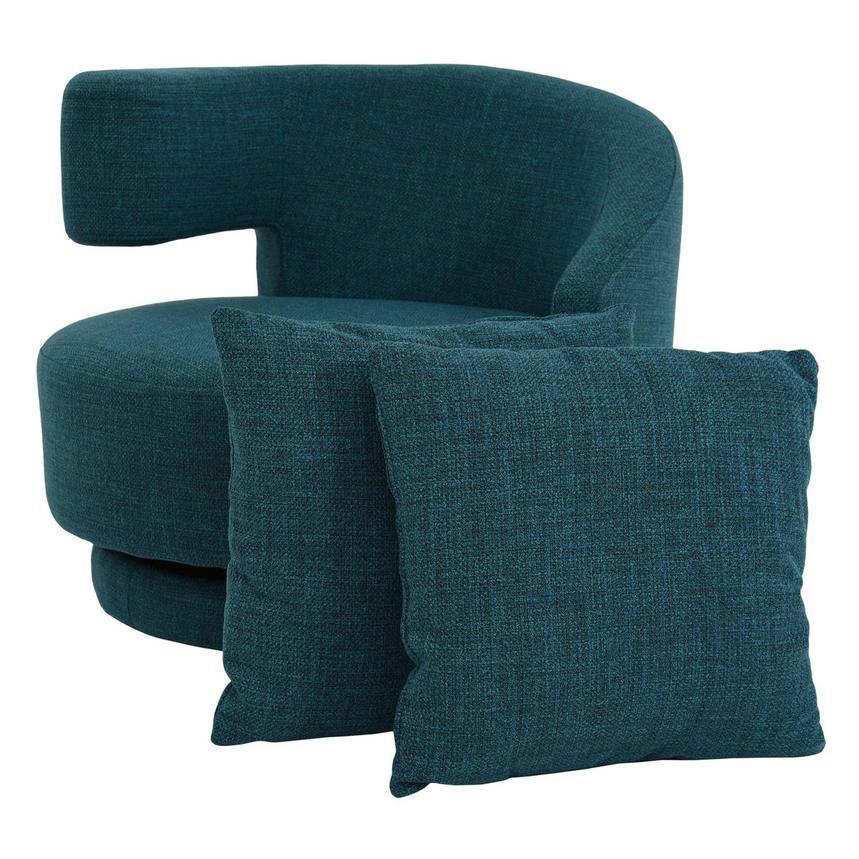 Stupendous Okru Blue Swivel Chair W 2 Pillows Machost Co Dining Chair Design Ideas Machostcouk