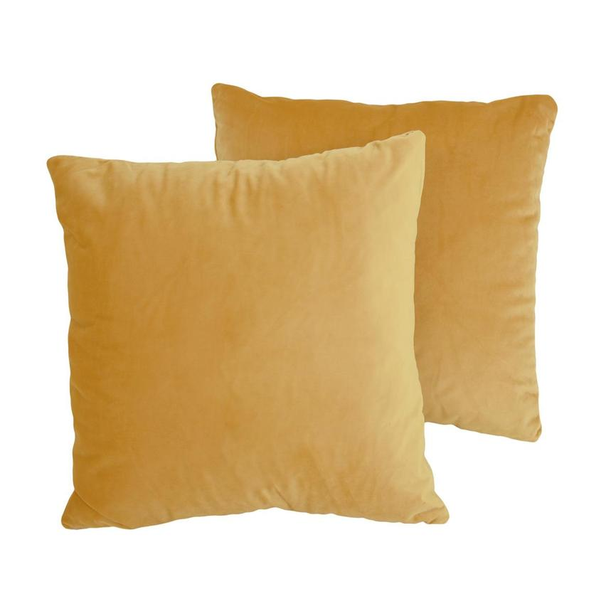 Okru Dark Yellow Two Accent Pillows  main image, 1 of 4 images.
