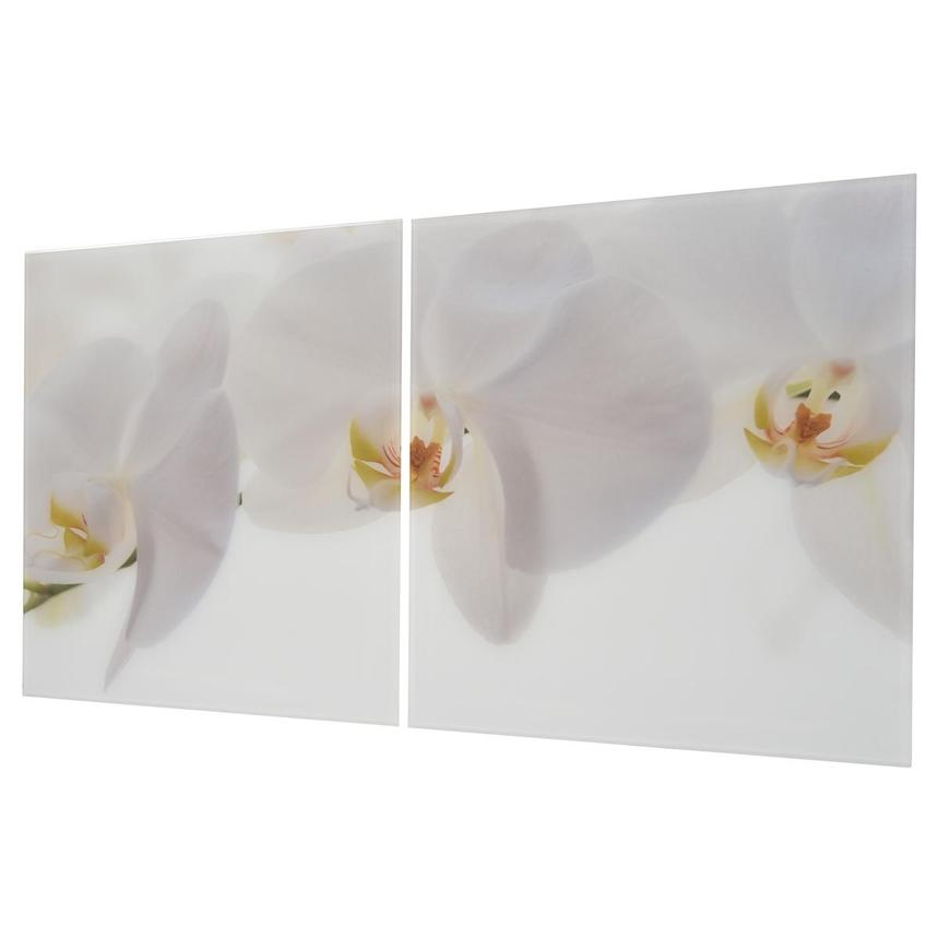 Orchidee White Set of 2 Acrylic Wall Art  alternate image, 2 of 4 images.