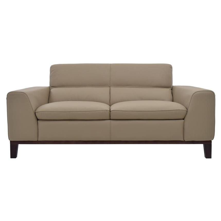 Milani Tan Leather Loveseat  main image, 1 of 6 images.