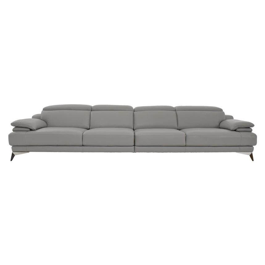 Idris Grey Oversized Leather Sofa  main image, 1 of 7 images.