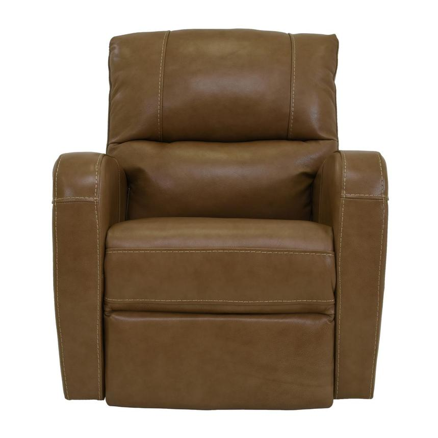 Keegan Tan Power Motion Leather Recliner  main image, 1 of 7 images.
