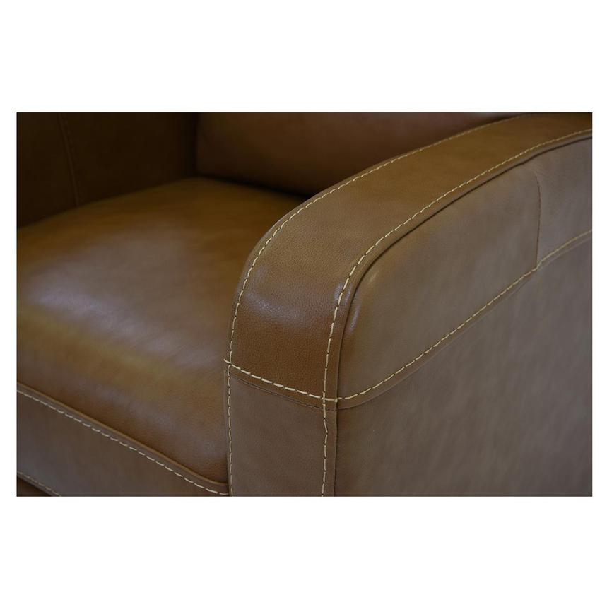 Keegan Tan Power Motion Leather Recliner  alternate image, 6 of 7 images.