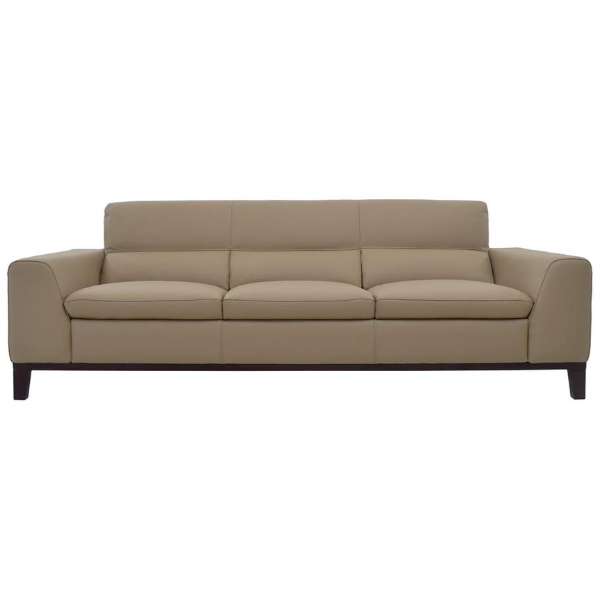Milani Tan Leather Sofa  main image, 1 of 6 images.