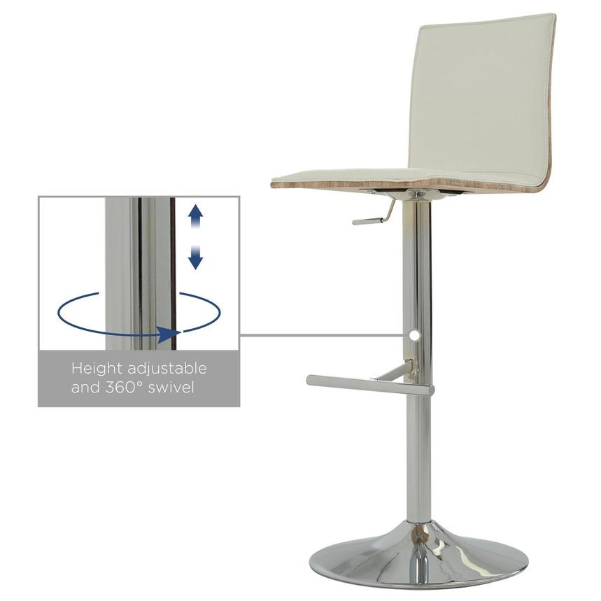 Solimar White Adjustable Stool  alternate image, 10 of 10 images.
