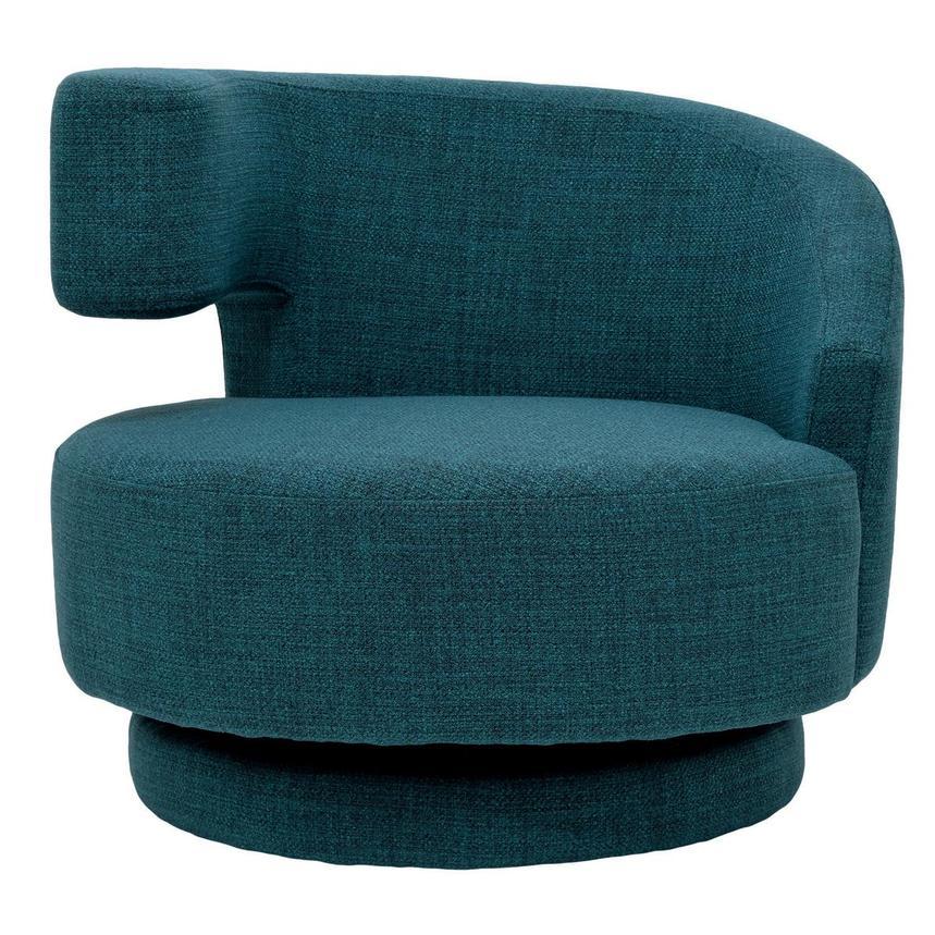 Okru Blue Swivel Chair W 2 Pillows El Dorado Furniture