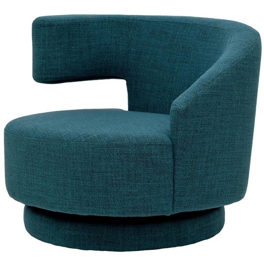 Okru Blue Swivel Chair w/2 Pillows  alternate image, 3 of 11 images.
