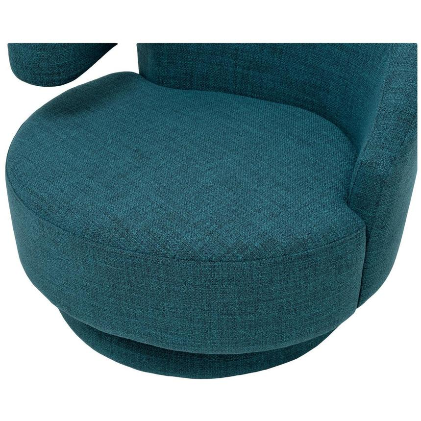 Okru Blue Swivel Chair w/2 Pillows  alternate image, 7 of 10 images.