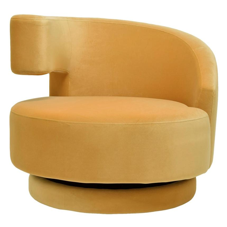 Okru Dark Yellow Swivel Chair w/2 Pillows  alternate image, 2 of 11 images.