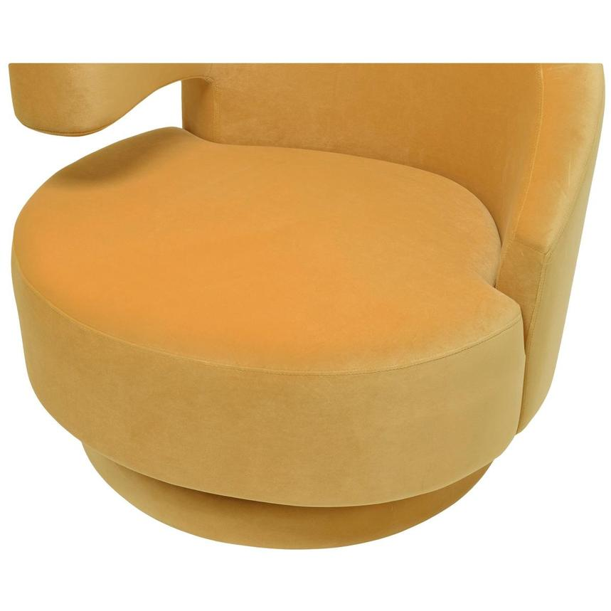 Okru Dark Yellow Swivel Chair w/2 Pillows  alternate image, 7 of 10 images.