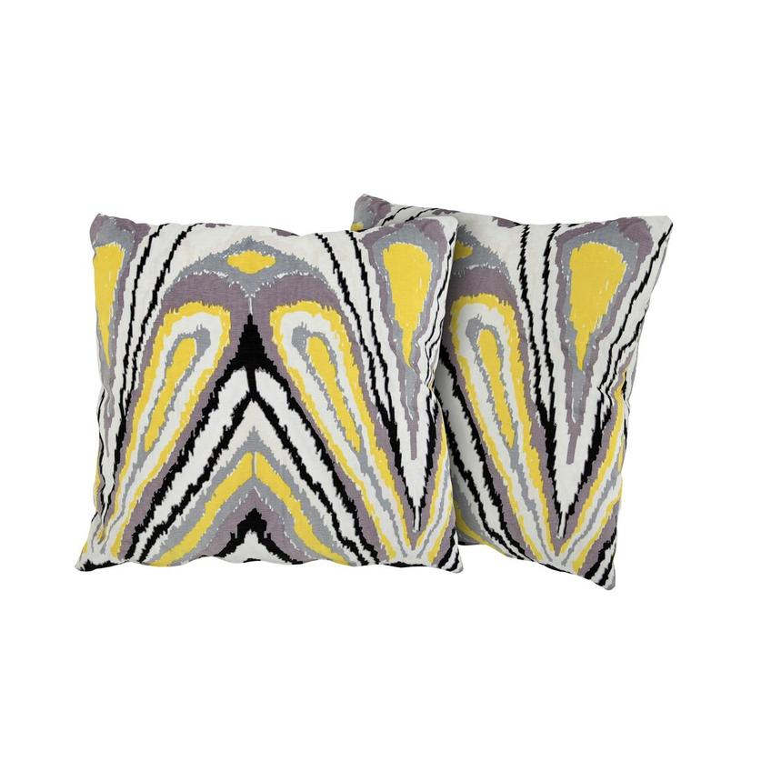 Tutti Frutti Yellow Two Accent Pillows  main image, 1 of 4 images.
