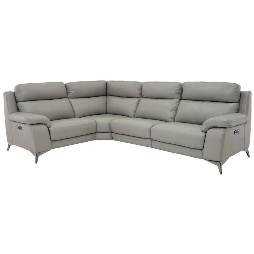 Barry Gray Leather Power Reclining Sectional  main image, 1 of 11 images.