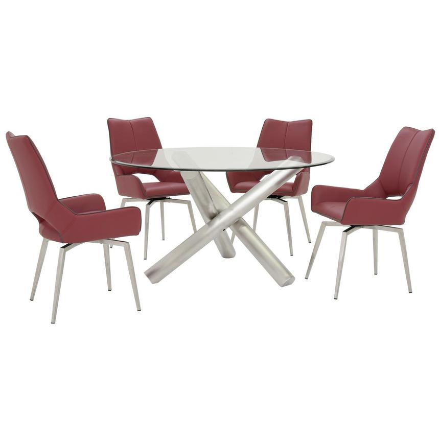 Addison I/Kalia Red 5-Piece Formal Dining Set  main image, 1 of 12 images.