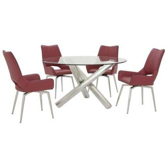 Addison I/Kalia Red 5-Piece Dining Set