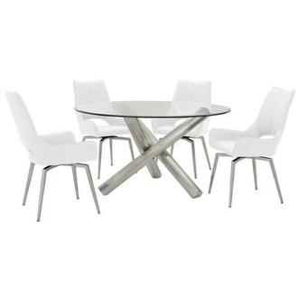 Addison I/Kalia White 5-Piece Formal Dining Set