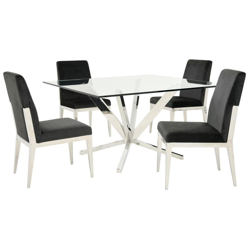 Ghettys/Met Dark Gray 5-Piece Formal Dining Set  main image, 1 of 10 images.