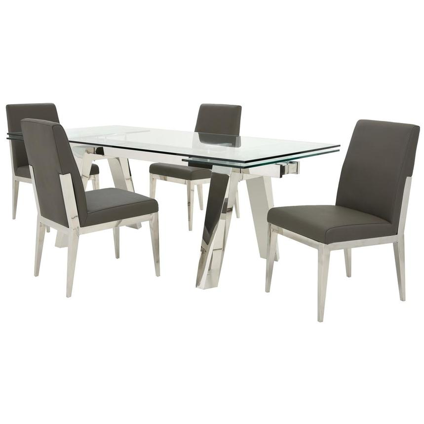 Madox/Met Gray 5-Piece Formal Dining Set  main image, 1 of 13 images.