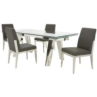 Madox/Met Gray 5-Piece Dining Set