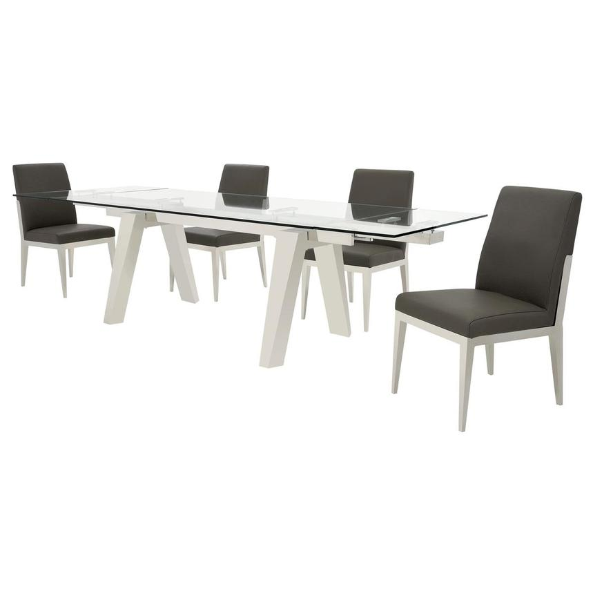 Madox/Met Gray 5-Piece Formal Dining Set  alternate image, 2 of 13 images.