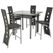 Dominoes Gray 5-Piece High Dining Set  main image, 1 of 11 images.
