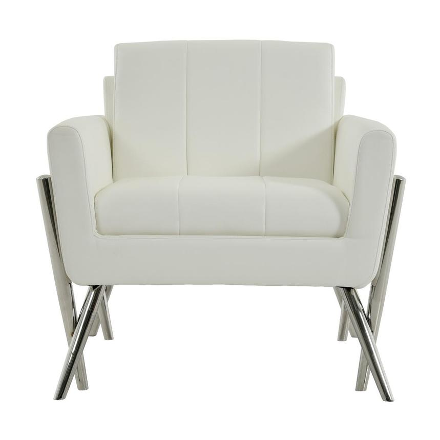 Juliet White Accent Chair  main image, 1 of 6 images.