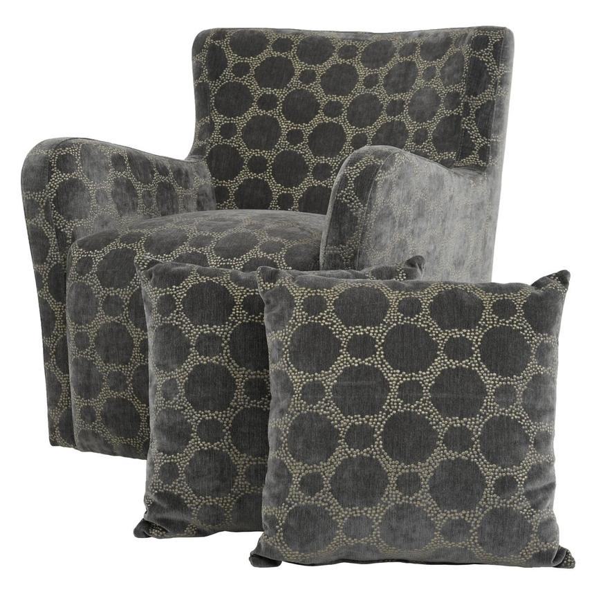 Everly Swivel Accent Chair w/2 Pillows  main image, 1 of 11 images.