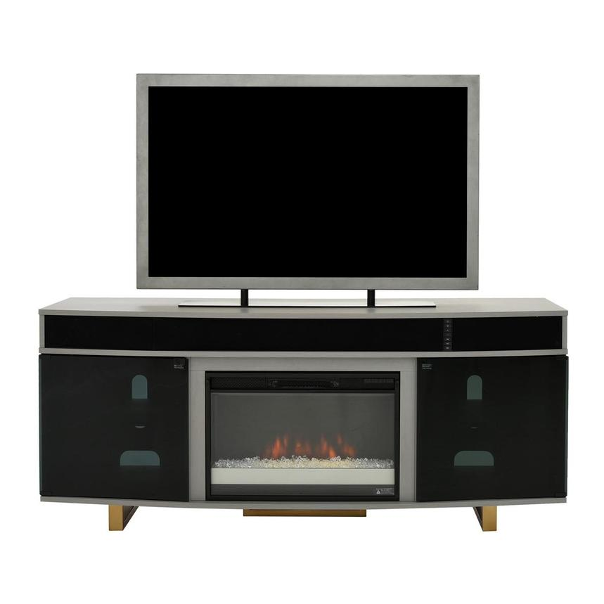 Enterprise Gray Faux Fireplace w/Speakers  main image, 1 of 7 images.