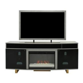 Enterprise Gray Electric Fireplace w/Speakers