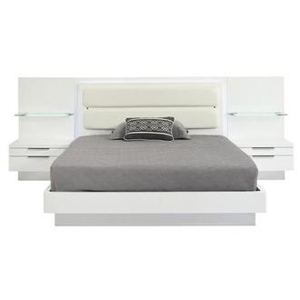 Ally King Platform Bed w/Nightstands
