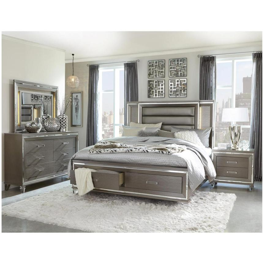 Stephanie Gray 4-Piece King Bedroom Set  alternate image, 2 of 6 images.