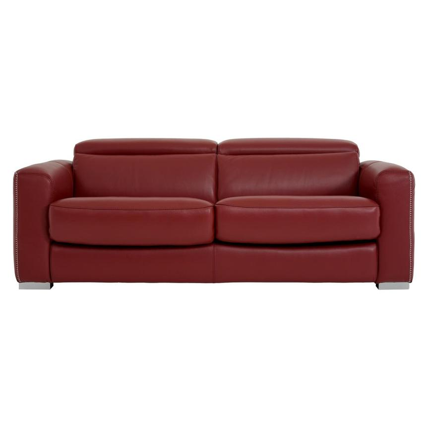 Bay Harbor Red Leather Sleeper
