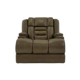 Damon Brown Leather Power Recliner
