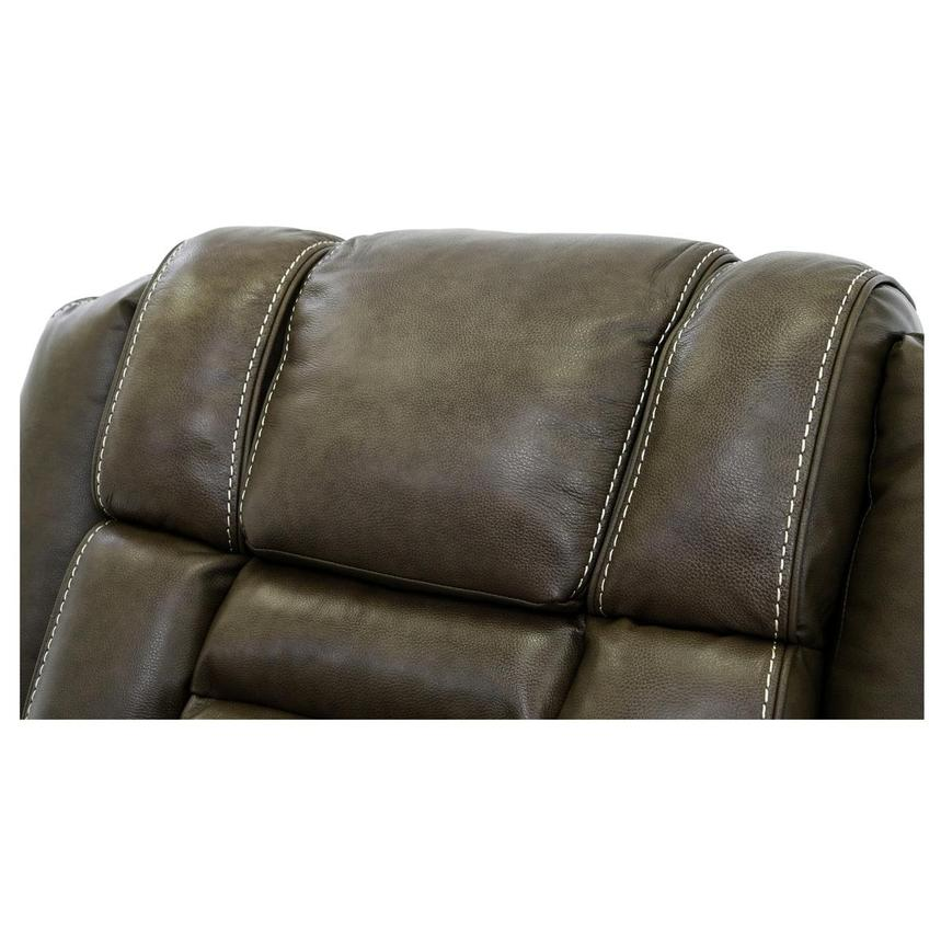 Damon Brown Power Motion Leather Recliner  alternate image, 7 of 10 images.