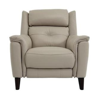 Mayte Cream Power Motion Leather Recliner