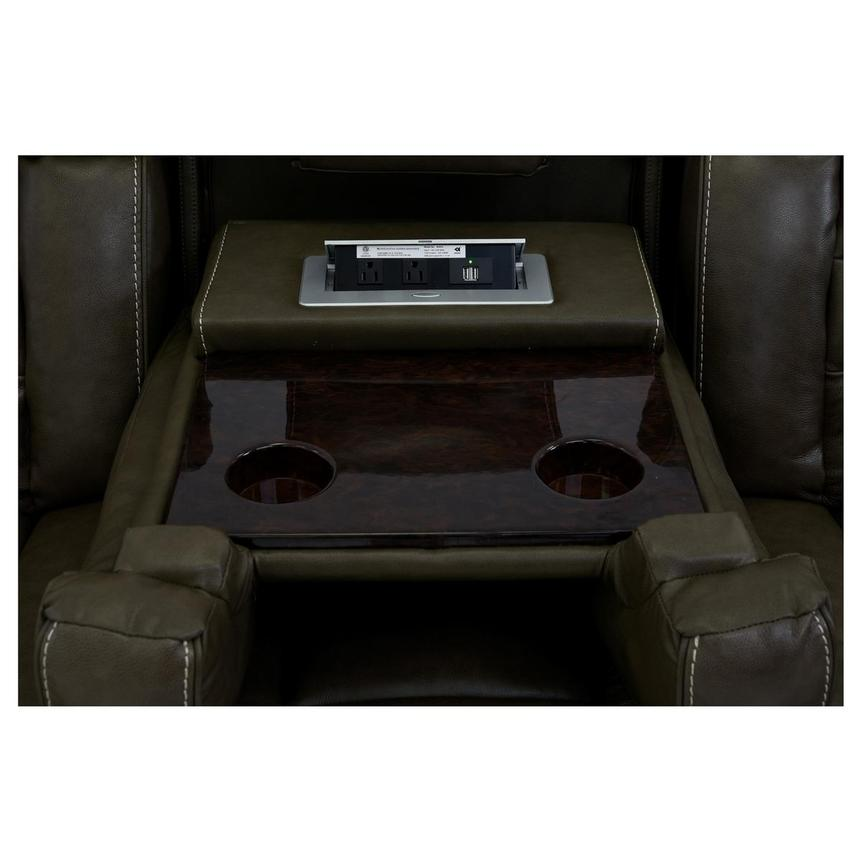Damon Brown Leather Power Reclining Sofa  alternate image, 7 of 11 images.