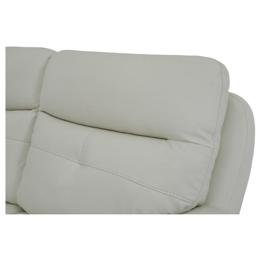 Zane Cream Power Motion Leather Sofa w/Console  alternate image, 7 of 10 images.