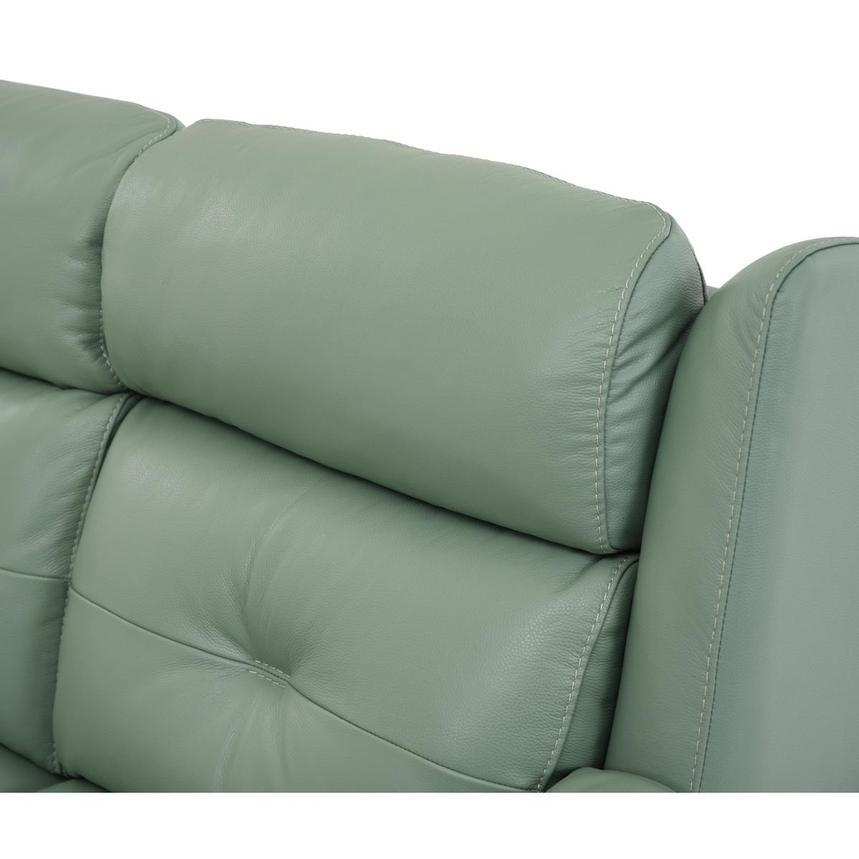 Mayte Green Power Motion Leather Sofa El Dorado Furniture