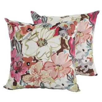 Scarlett Pink Two Accent Pillows