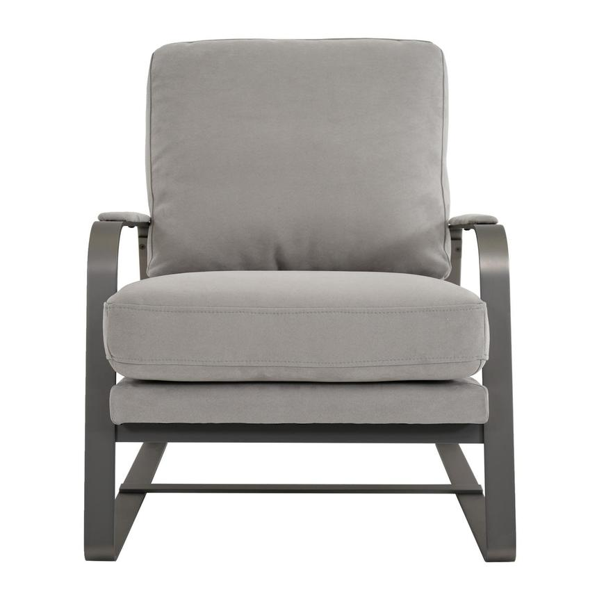 Isa Light Gray Accent Chair  main image, 1 of 6 images.