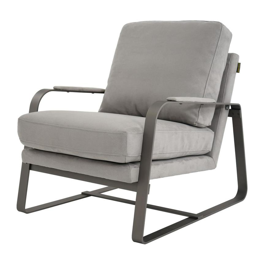 Isa Light Gray Accent Chair  alternate image, 2 of 6 images.