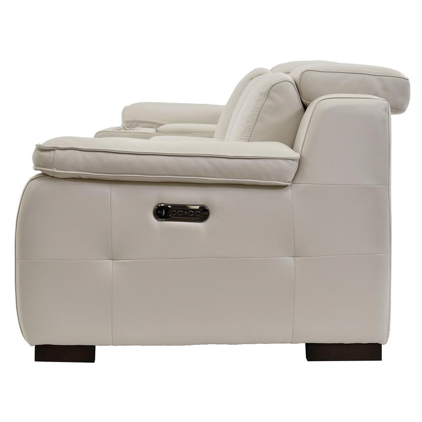 Gian Marco Cream Home Theater Leather Seating  alternate image, 5 of 10 images.