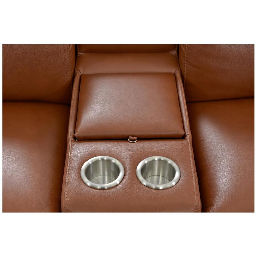 Gian Marco Tan Home Theater Leather Seating  alternate image, 8 of 11 images.