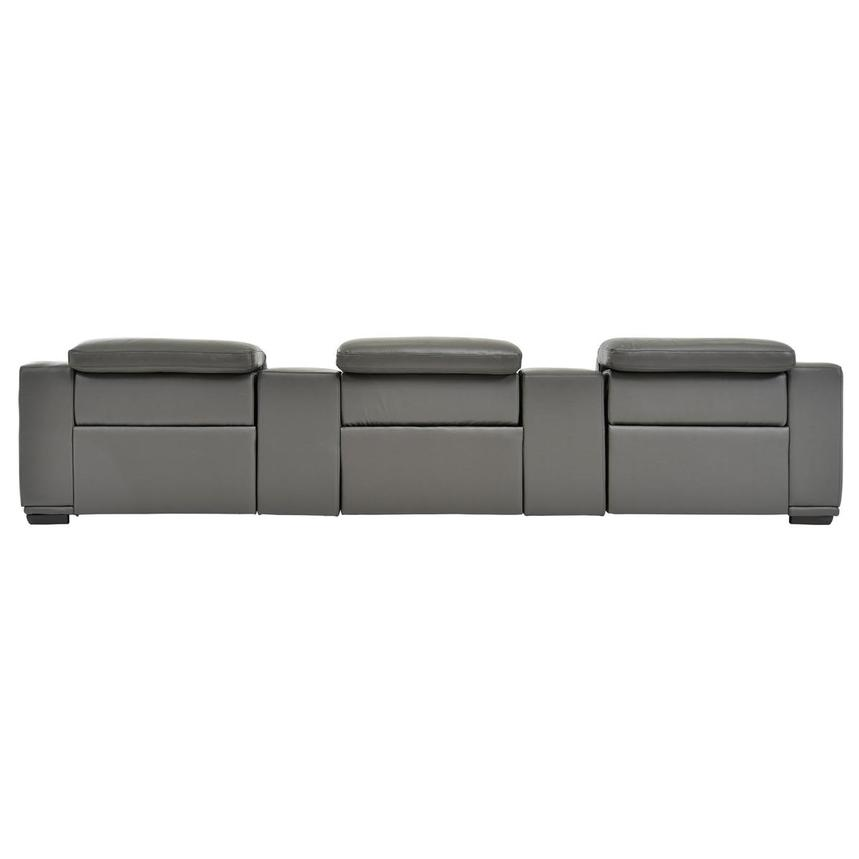 Davis 2.0 Dark Gray Home Theater Leather Seating  alternate image, 6 of 10 images.