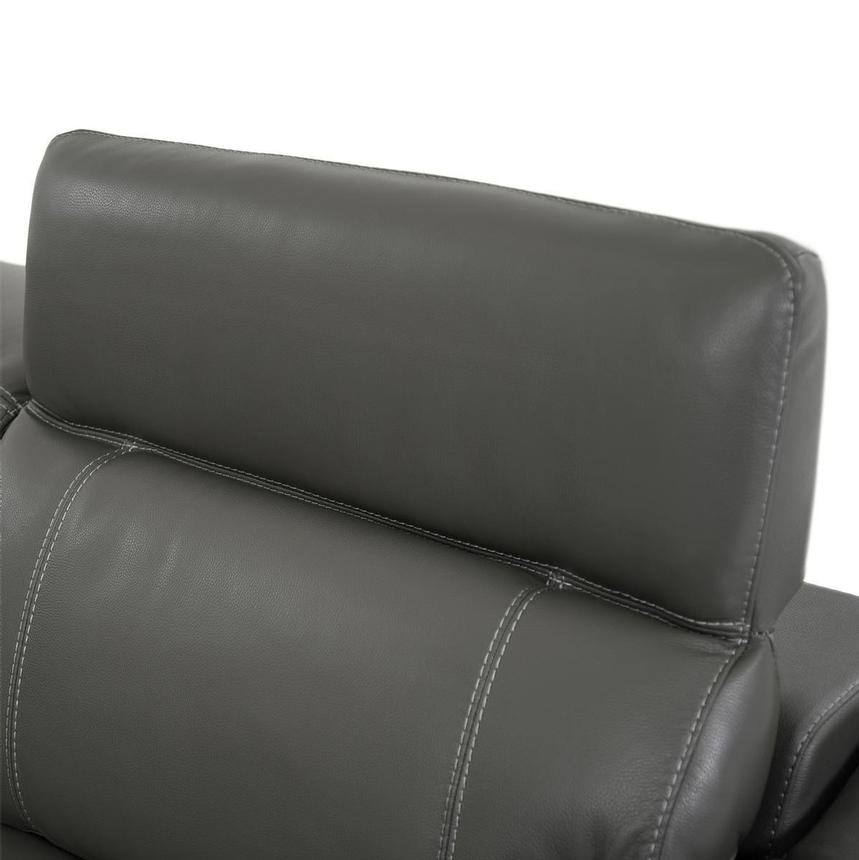 Austin Dark Gray Leather Power Reclining Sectional  alternate image, 6 of 11 images.